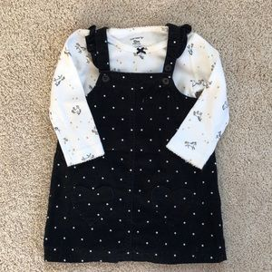 Corduroy polka dot dress!!
